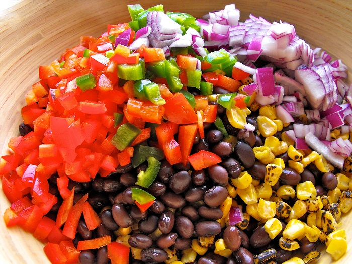 avocado corn black bean salad