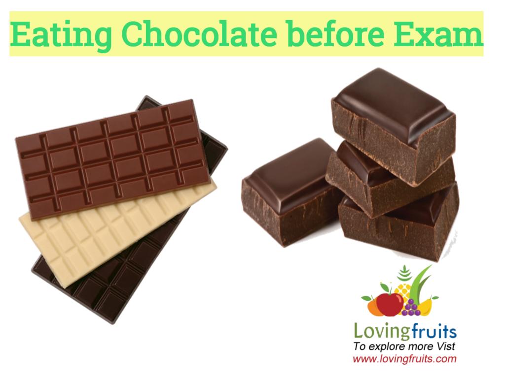 chocolate before exam